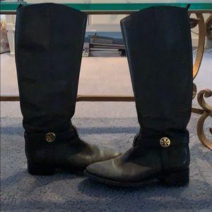 Tory Burch dark brown boots